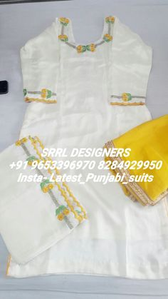 Top quality embroidery on silk fabric with chinon chiffon duppta. Embroidery Suits Punjabi, Hand Embroidery Dress, Embroidery Suits Design, Embroidery Fashion, Embroidery Patterns, Machine Embroidery, Punjabi Suits Designer Boutique, Indian Designer Suits, Boutique Suits