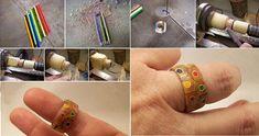 DIY Colored Pencil Ring