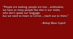 From Bishop Blase Cupich