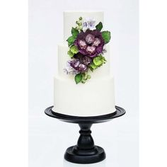 30 Simple, Elegant, Chic Wedding Cakes ❤ liked on Polyvore featuring home, home decor and inspirational home decor