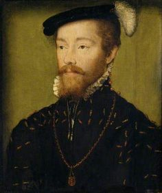 King James V, King of Scotland (1512– 1542), Aged 25 by Corneille de Lyon. National Trust, Polsedon Lacey