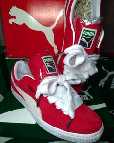 """36bcd687a44 ... on Instagram  """"Puma Suede Red + BBoy Lace Size 38 39 40 41 42 R   249"""
