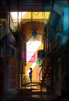 Entrance through the Back - Aricee Alley by fox-orian.deviantart.com on @DeviantArt <<---- This is an artist you MUST CHECK OUT. The art is highest standard, but above all the fact that this artist shares very useful information for everyone who is willing to sit through her page. Top Class!!!!