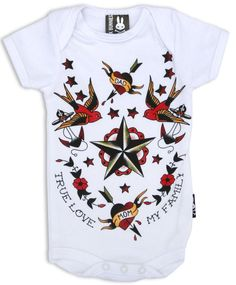 True Love My Family Unisex Infant Bodysuit Baby Onesie brought to you by Father Panik