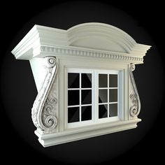 Window 099 by ThemeREX High quality polygonal model of window.max Max 2010 for separate models .max Max 2010 for the scene, w House Outside Design, House Front Design, Cool House Designs, Shoe Store Design, House 3d Model, Classic House Design, Interior Columns, Bedroom False Ceiling Design, House Trim