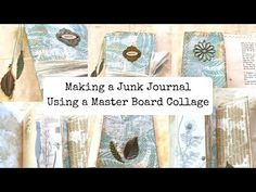 Making A Junk Journal Out Of A Master Board - YouTube
