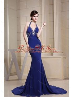Buy halter cool back ruched beading court train dresses for pageant from beauty pageant dresses collection, halter top neckline mermaid in blue color,cheap dress with backless back and court train for prom formal evening pageant celebrity . Prom Dresses Under 100, Prom Dress 2013, Royal Blue Prom Dresses, Prom Girl Dresses, Beaded Prom Dress, Plus Size Prom Dresses, Mermaid Prom Dresses, Homecoming Dresses, Prom Gowns