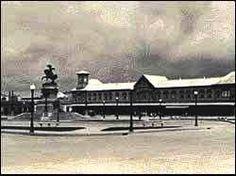 Antigua estación del Ferrocarril...hoy Plaza Barrios. Ciudad Guatemala.