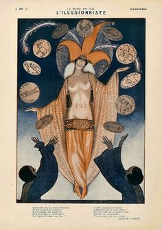 Fantasio, 1920s Illustration by Armand Vallee
