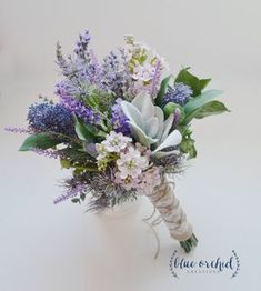 Lavender and Lilac wildflower bouquet with Lamb\'s Ear, Rustic Wedding Bouquet, Wildflower Bouquet by blueorchidcreations on Etsy - this is perfect! Lavender, lambs ear and lilacs remind me lots of my childhood with Mom! Purple Wedding Bouquets, Lavender Bouquet, Lilac Wedding, Bride Bouquets, Flower Bouquet Wedding, Floral Wedding, Rustic Wedding, Trendy Wedding, Wedding Boquette