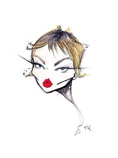illustraton by Jamie Lee Reardin Face Illustration, Fashion Illustration Sketches, Fashion Sketches, Anime Comics, Artist Wall, Dior Beauty, Jamie Lee, Fashion Figures, Fashion Photography Inspiration