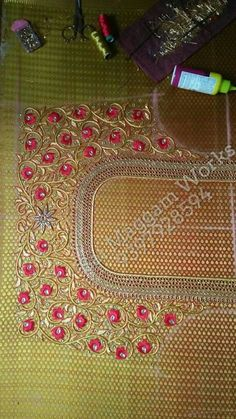 Cutwork Blouse Designs, Best Blouse Designs, Pattu Saree Blouse Designs, Bridal Blouse Designs, Blouse Neck Designs, Zardosi Embroidery, Beaded Embroidery, Blouse Designs Catalogue, Work Images