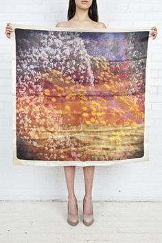 philippe roucou, polaroid scarves