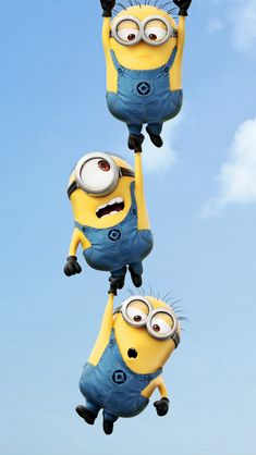 Minions Hanging iPhone 5 Wallpaper (640x1136)