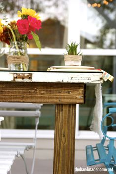 build a table from an old door #diy