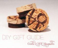Cork LOVE Magnets