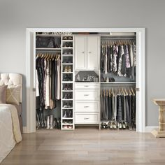 Maximize your small bedroom closet with our storage ideas – from built-in drawers to over-the-door shoe racks. Read our blog post for organization tips. Featured: Selectives; available exclusively at @homedepot #BedroomCloset #ClosetDesign #SmallClosetIdeas Closet, Closet Small Bedroom, Closet Designs, Small Closets, Bedroom, Drawers, Small Bedroom, Small, Closetmaid