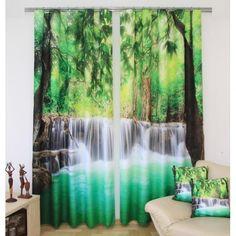 Záves s vodopádom - domtextilu. Teak, Aquarium, Waterfall, Curtains, Outdoor, Home Decor, Design, Fotografia, Living Room