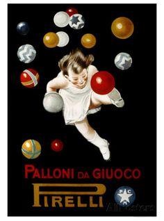 Pirelli Palloni da Giuoco Stampa giclée di Leonetto Cappiello su AllPosters.it