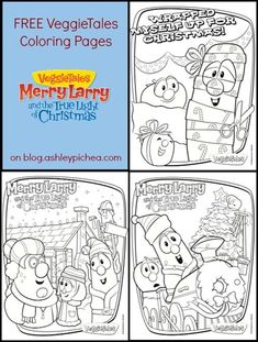 VeggieTales Coloring Pages - Merry Larry and the True Light of Christmas