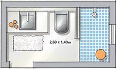 Banheiro tem cimento queimado no piso, na parede e até no forro - Small Bathroom Plans, Bathroom Layout Plans, Small Bathroom Layout, Small Bathroom With Shower, Bathroom Floor Plans, Tiny Bathrooms, Tiny House Bathroom, Modern Bathroom Design, Bathroom Interior Design