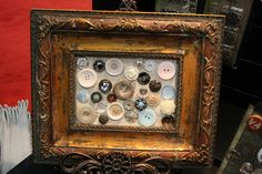 """I don't have cool enough buttons for this, but I like the idea of framing """"stuff"""" (as opposed to  just photos)"""