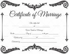 Marriage Certificate in PDF Format & Word DOC