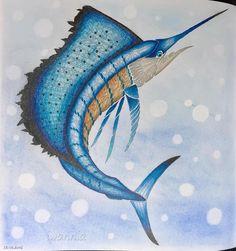 Curiouscreatures Milliemarotta Fabercastell Polychromos Kohinoor Softpastel Sailfish Coloriageadulte Sea Creatures DrawingCreature DrawingsColoring