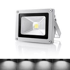 Warmoon Outdoor LED Flood Light, 10W Daylight White 6500K - http://freebiefresh.com/warmoon-outdoor-led-flood-light-10w-review/