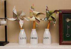 How To Make Decorative Paper Pinwheels