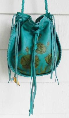 August: Turquoise Leather Pouch - Lucky Brand