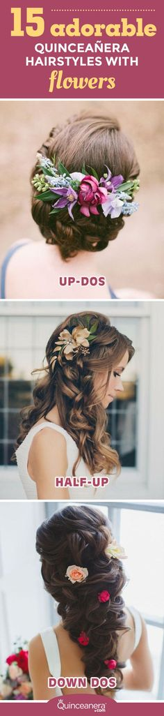 From single roses to flower crowns with peonies, putting the finishing touches to your hairstyle with floral pieces is the perfect way to freshen up your look any day, especially at your quinceanera. - See more at: http://www.quinceanera.com/hair-styles/quinceanera-hairstyles-with-flowers/#sthash.86plTFB2.dpuf