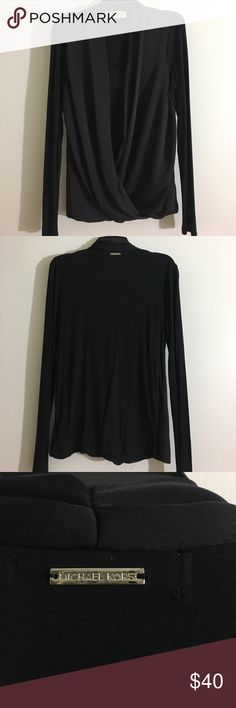 Michael Kors Long Sleeve Top Black Michael Kors Top, size Small Tops Blouses