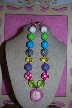 Chunky Bead & Bottle Cap Necklace  He Is Risen by beadazzledkiddos, $17.00