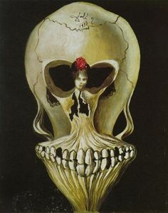 Salvador Dali, Ballerina in a Death's Head. 1939, oil on canvas. Private collection.