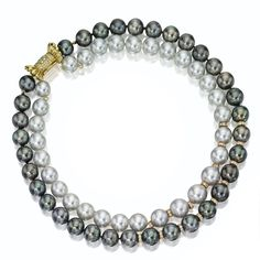 Double-strand cultured pearl and diamond necklace   lot   Sotheby's