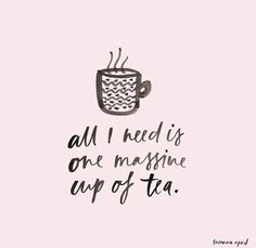 Uh, YES! It's 4 o'clock! Time for #tea!