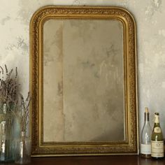 Eloquence One of a Kind Vintage Mirror Acanthus Leaf Gold @Layla Grayce