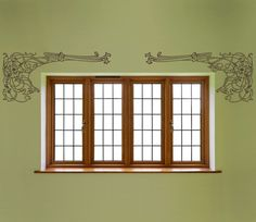 decals for your walls. I love this one near a window, or framing an opening to another room, or art work.