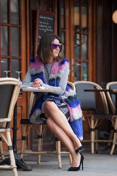 vest: Tommy Hilfiger // shoes: Yves Saint Laurent // top + skirt: Lapinalabel // bag: Valentino // sunglasses: Guess via Area Comunicación