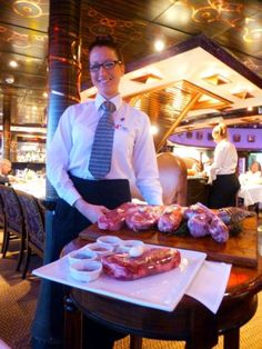 Great steak choices at Nick & Nora's Steakhouse on the Carnival Miracle