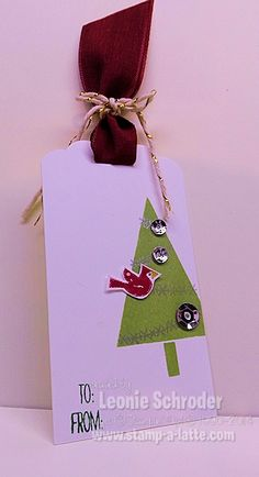 Latte Fun Day – Christmas Tags using Festival of trees bundle.