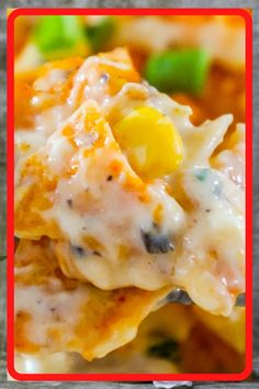 Doritos Casserole with Chicken is an easy weeknight dinner recipe using rotisserie chicken. This creamy chicken casserole is loaded with cream cheese, corn, shredded cheddar and topped with crumbled Doritos. Recipes Using Rotisserie Chicken, Easy Chicken Dinner Recipes, Chicken Dips, Fried Chicken, Real Food Recipes, Cooking Recipes, Cooking Ideas, Meat Recipes, Food Ideas