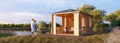 Pavillon aus Holz (3 x 5) - pineca.de