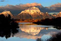 Golden hour in Grand Teton National Park