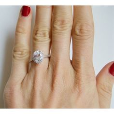 "This Oval Cut Sparkling halo set Solitaire CZ Engagement Ring is a beautiful way to say ""I love you""! Custom Wedding Rings, Wedding Ring Designs, Silver Promise Rings, Engagement Ring Buying Guide, Cubic Zirconia Engagement Rings, Pave Ring, Solitaire Ring, Halo Setting, Wedding Sets"