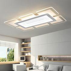 Modern led acrylic ceiling lights luminaire plafonnier bedroom living room foyer lighting fixtures brief design kitchen lamps
