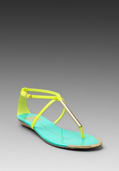 DV by DOLCE VITA Archer Sandal in Acid Yellow at Revolve Clothing - Free Shipping!