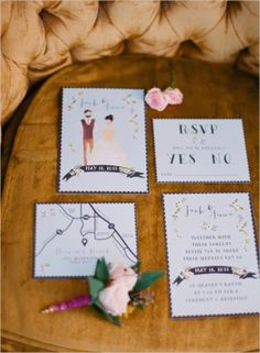 Whimsical wedding invitations #blue #rustic #invitations   Photo by: Lucy Munoz Photography on Wedding Chicks