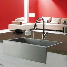 Vigo Farmhouse Apron Front 33x22.25x10 0-Hole Single Bowl Kitchen Sink-VG3320C at The Home Depot